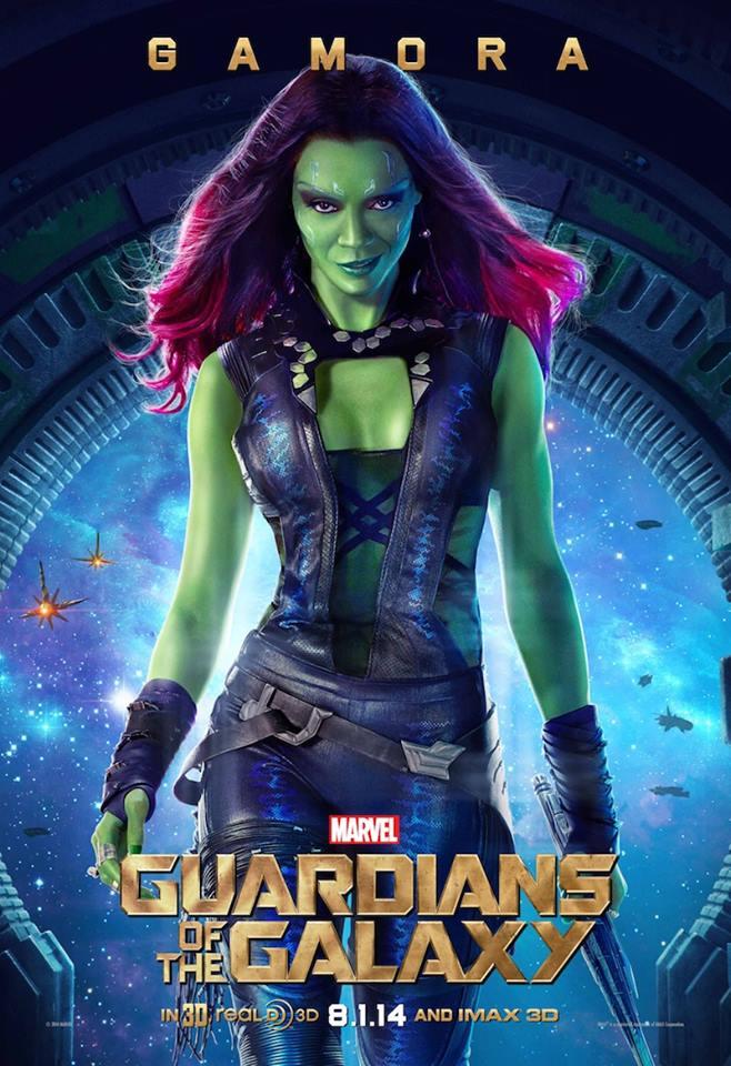 Guardiões da Galáxia (2014) Gamora(Zoe Saldanha)